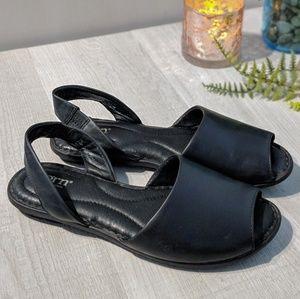 Born Trang Black Leather Slingback Sandals 7